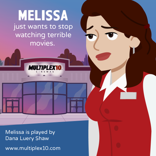 Melissa just wants to stop watching terrible movies.